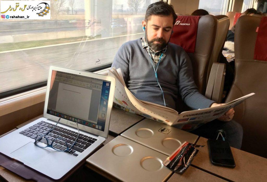 استفاده از اینترنت پر سرعت در قطار