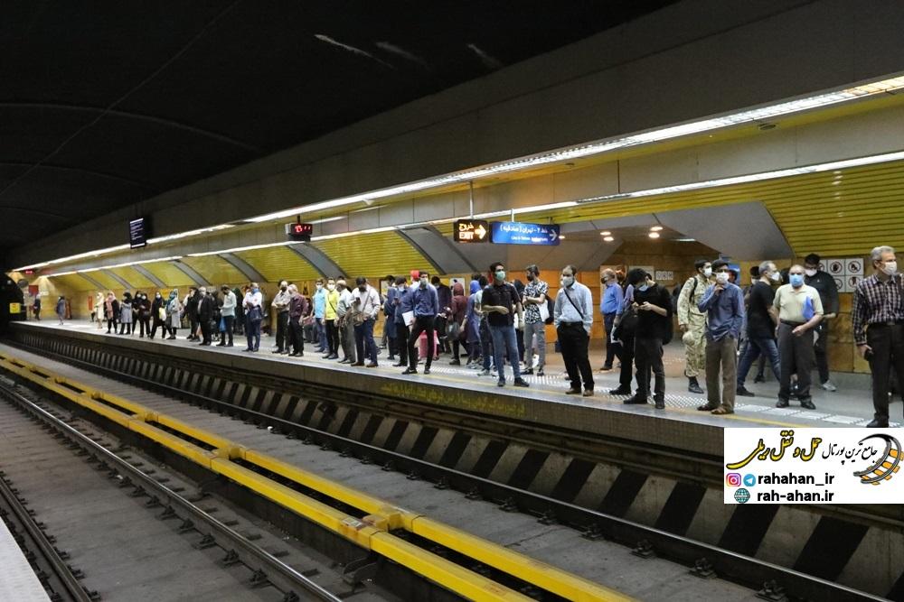 خدمات رسانی متروی تهران و حومه در تعطیلات اعلام شده همانند روزهای تعطیل است