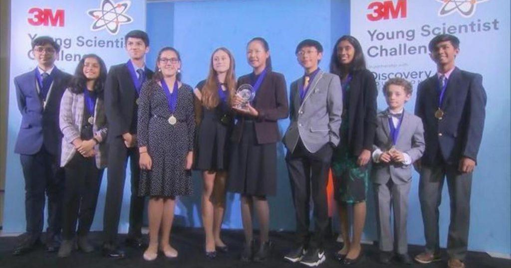 شرکت کنندگان چالش سالانه دانشمند جوان 3M