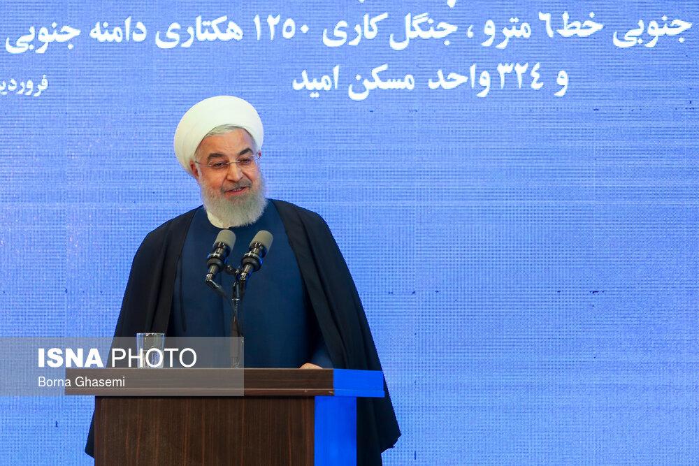 افتتاح فاز اول خط 6 مترو تهران توسط رئیس جمهور