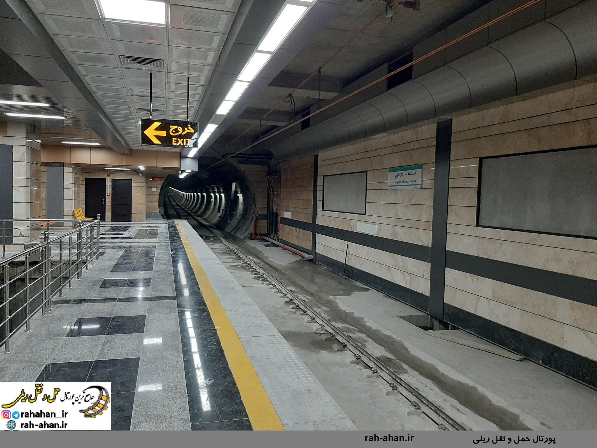 افتتاح ۴ ایستگاه جدید خط یک مترو تبریز