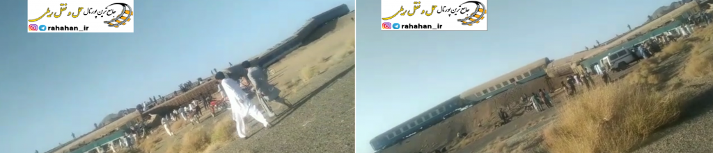 40 کشته و زخمی در حادثه خروج از خط قطار زاهدان - تهران