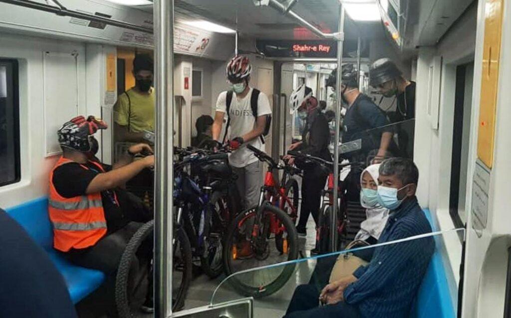 نگاهی به آمار سفر ترکیبی مترو و دوچرخه در شش ماهه اول 1400