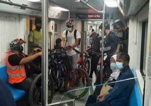 نگاهی به آمار سفر ترکیبی مترو و دوچرخه در شش ماهه اول ۱۴۰۰