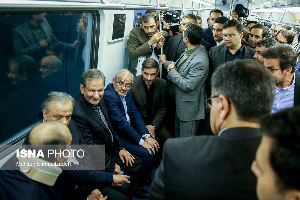 افتتاح ایستگاه پایانی خط 2 و آغاز عملیات اجرایی خط 4 مترو مشهد با حضور معاون اول رئیس جمهور