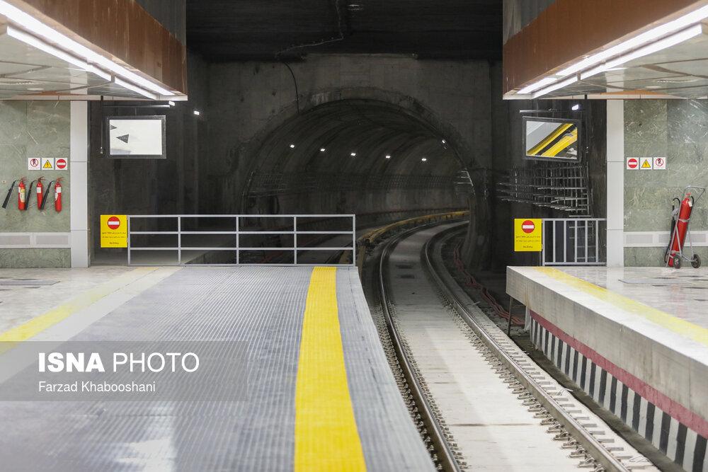کاهش فاصله حرکت قطارها در خط ۷ مترو تهران
