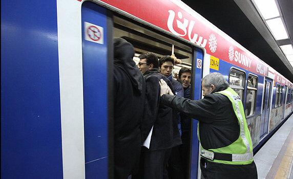 شلوغی ایستگاه های مترو تهران