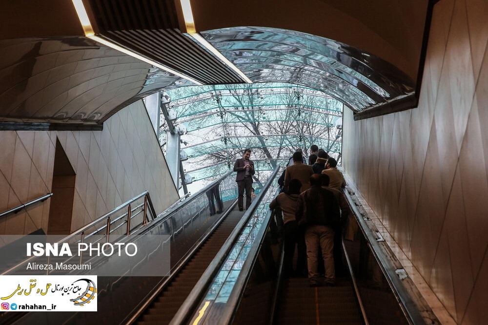 افتتاح ایستگاه کوهسنگی قطار شهری مشهد
