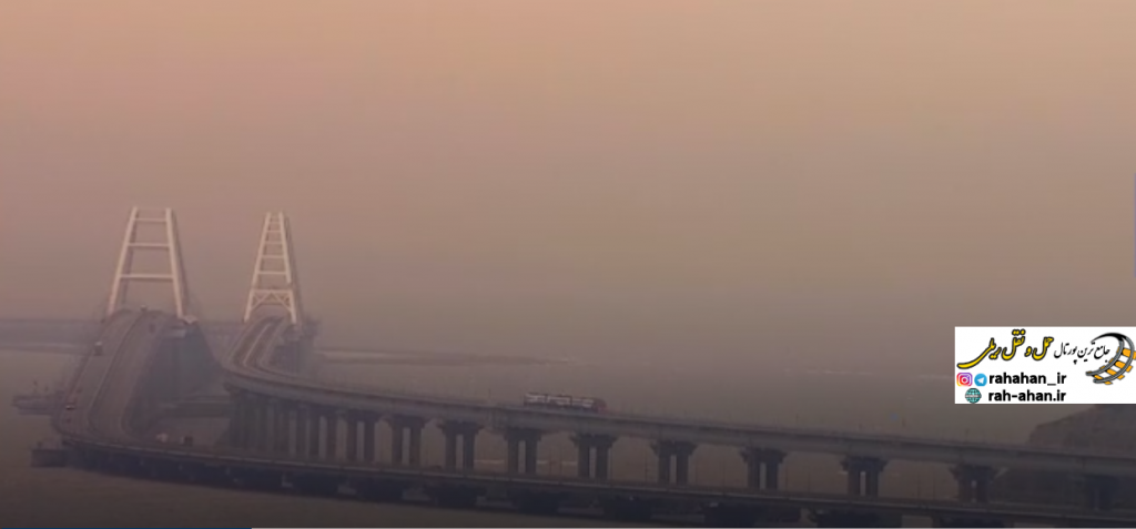 نمای طولانی ترین پل ریلی اروپا