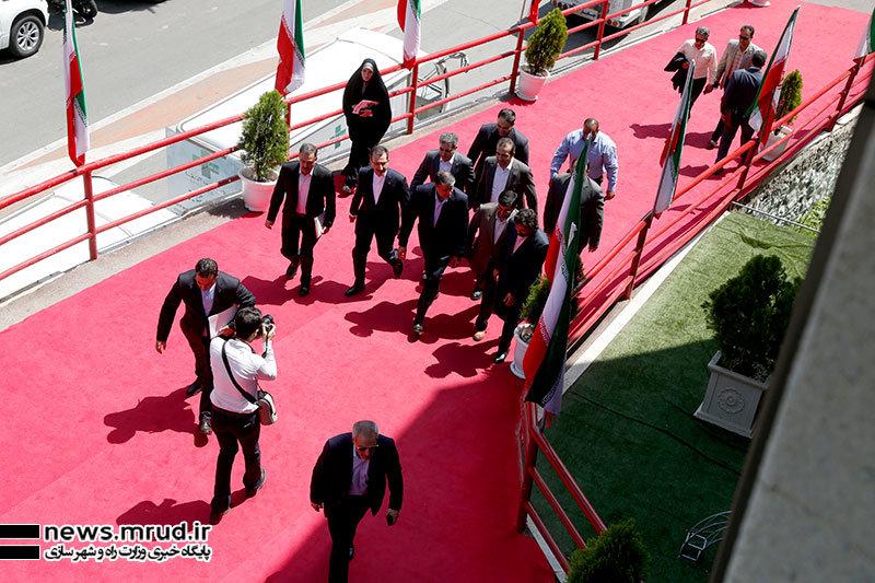 حضور محمد اسلامی وزیر راه و شهرسازی در آیین افتتاح هفتمین نمایشگاه بین المللی حمل و نقل ریلی