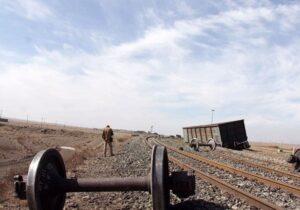 خروج از خط شش واگن باری در بلاک بیشه-قارون/بازگشایی مسیر تا ساعتی دیگر