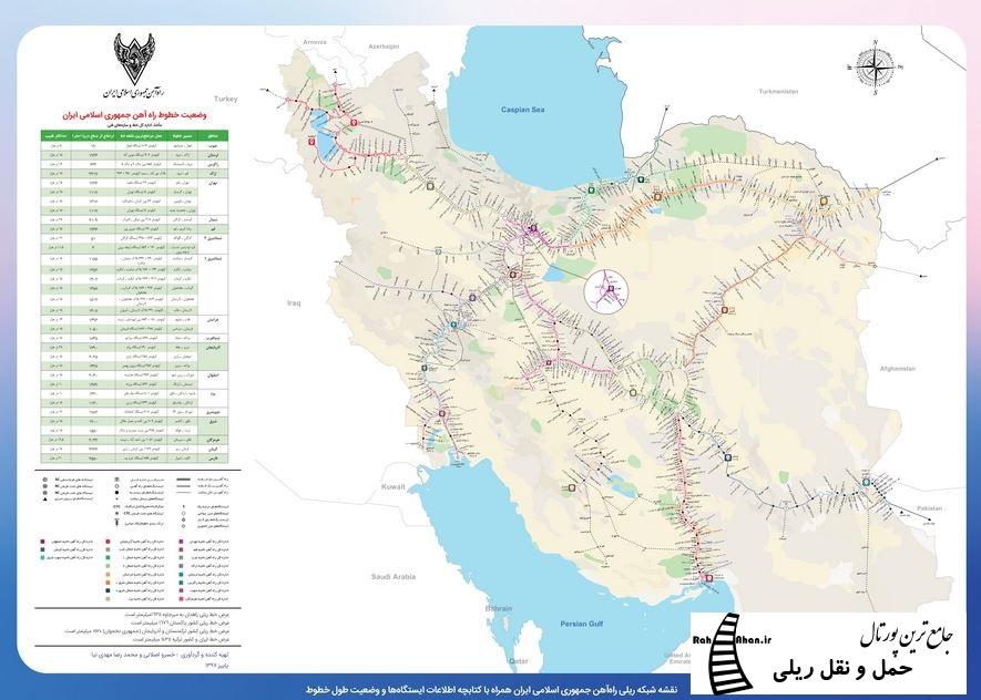 نقشه ریلی کشور