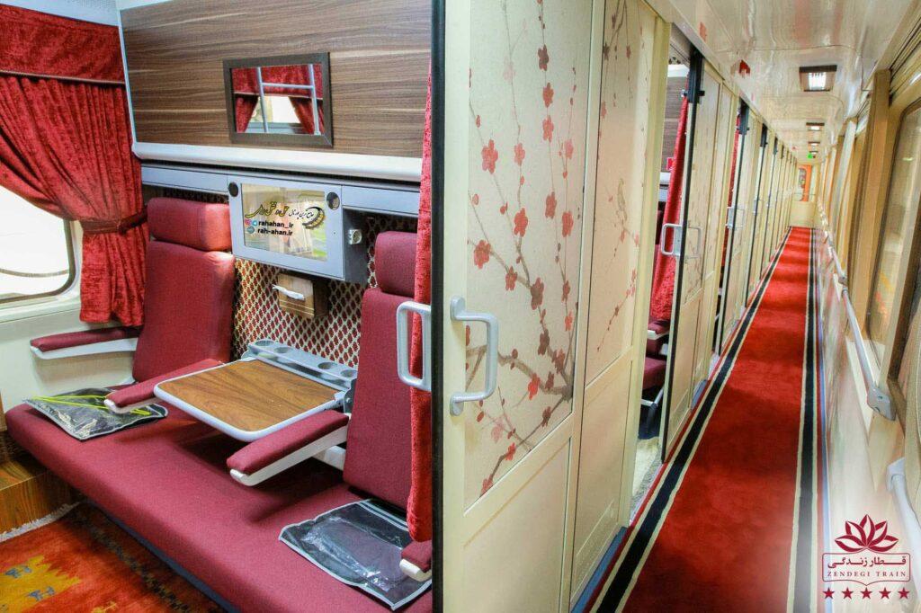 نمای داخل سالن های قطار 5 ستاره زندگی